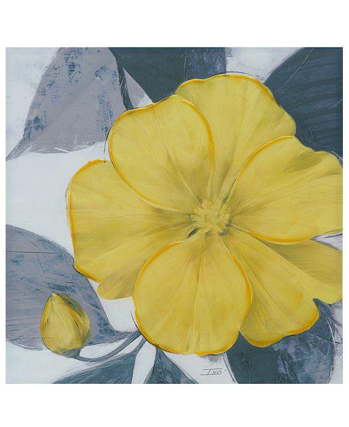 "JLA Home Madison Park 'Yellow Bloom' 30"" x 30"" Hand-Embellished Canvas Print"