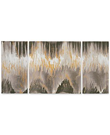 INK+IVY 'Relevance' Gel-Coated 3-Pc. Canvas Wall Art Set with Gold Foil Embellishment