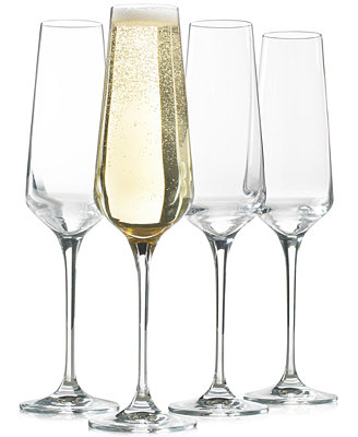 Set Of 4 Flute Glasses, Created For Macy's by Hotel Collection