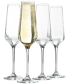 Hotel Collection Set of 4 Flute Glasses, Created for Macy's
