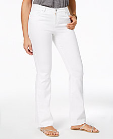 Style & Co Stitch Pocket Flared Jeans, Created for Macy's