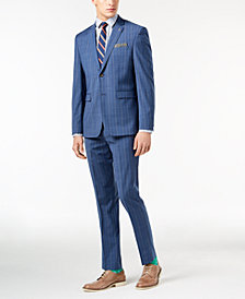 Original Penguin Men's Slim-Fit Stretch Blue Pinstripe Suit