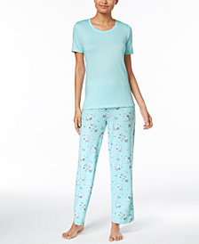 Charter Club Cotton Pajama Top & Pants Sleep Separates, Created for Macy's
