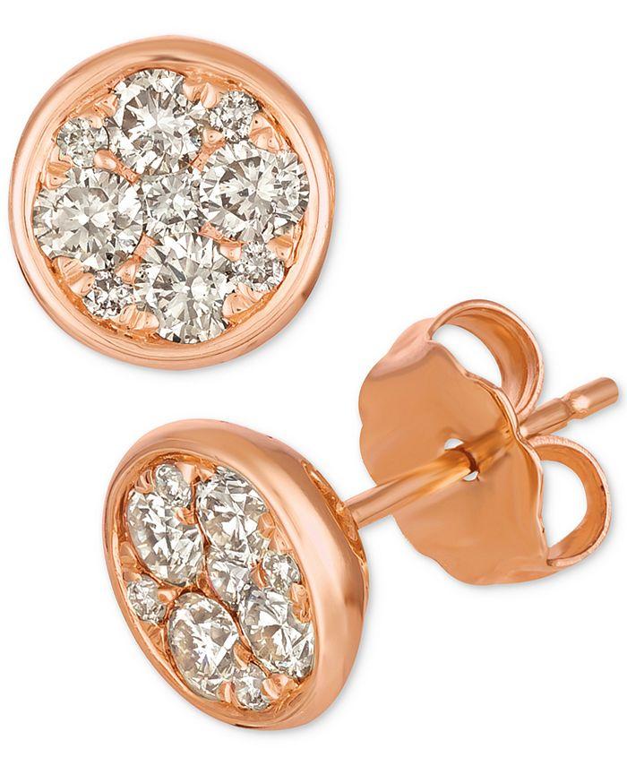 Le Vian - Diamond Cluster Stud Earrings (1/2 ct. t.w.)