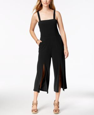 PETITE SPLIT-HEM CROPPED JUMPSUIT, CREATED FOR MACY'S