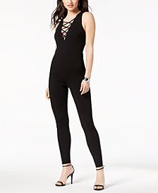GUESS Karl Cage-Neck Strappy Jumpsuit