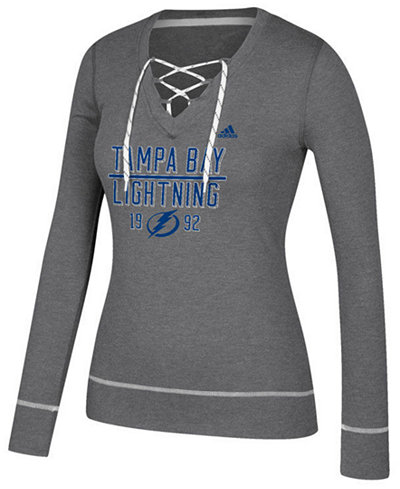 adidas Women's Tampa Bay Lightning Skate Lace Long Sleeve T-Shirt