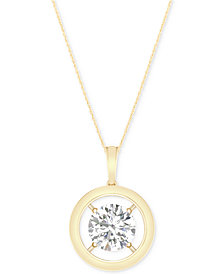 MAGNIFICENCE Diamond Open Frame Pendant Necklace (1/10 ct. t.w.)