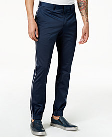 Tallia Orange Men's Modern-Fit Navy Solid Jogger Dress Pants