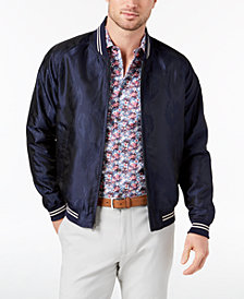 Tallia Orange Men's Modern-Fit Navy Tonal Floral-Print Bomber Jacket