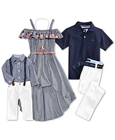 GET THE LOOK: Gingham & Navy Collection, Girls' & Boys'