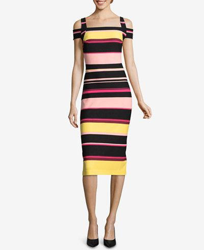 ECI Cold-Shoulder Midi Dress