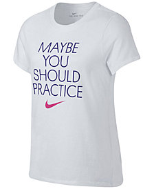 Nike Practice-Print T-Shirt, Big Girls