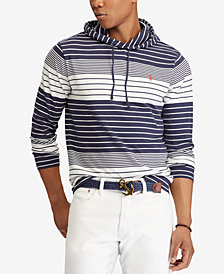 Polo Ralph Lauren Men's Striped Hooded Long-Sleeve T-Shirt