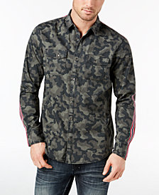 I.N.C. Men's Camo Taped Shirt, Created for Macy's