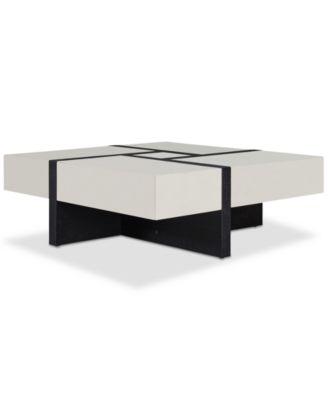 Emerton 4-Drawer Square Coffee Table