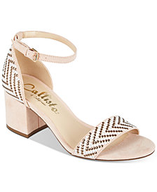 Callisto Nessa Two-Piece Block Heel Dress Sandals, Created for Macy's