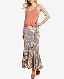 Jessica Simpson Maternity Ruffled Maxi Skirt