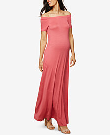 Motherhood Maternity Off-the-Shoulder Maxi Dress