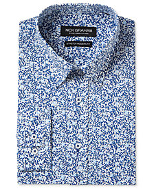 Nick Graham Men's Slim-Fit Stretch Easy-Care Vine Print Dress Shirt