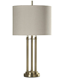 StyleCraft Three Column Table Lamp