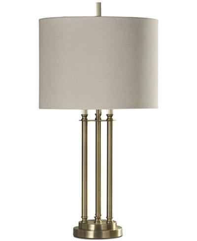 StyleCraft Three Column Table Lamp