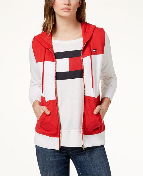 Tommy Hilfiger Colorblocked Hoodie, Created for Macy's