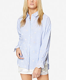 Sanctuary Hazel Eyelet Cotton Boyfriend Shirt