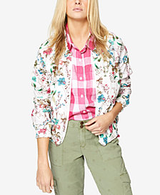 Sanctuary In Bloom Cotton Floral-Print Bomber Jacket
