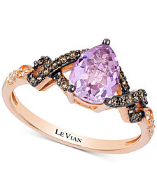 Le Vian Chocolatier® Vibrant Orchid™ Cotton Candy Amethyst® (8 ct. t.w.) & Diamond (1/5 ct. t.w.) in 14k Rose Gold