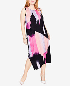 RACHEL Rachel Roy Trendy Plus Size Asymmetrical Dress