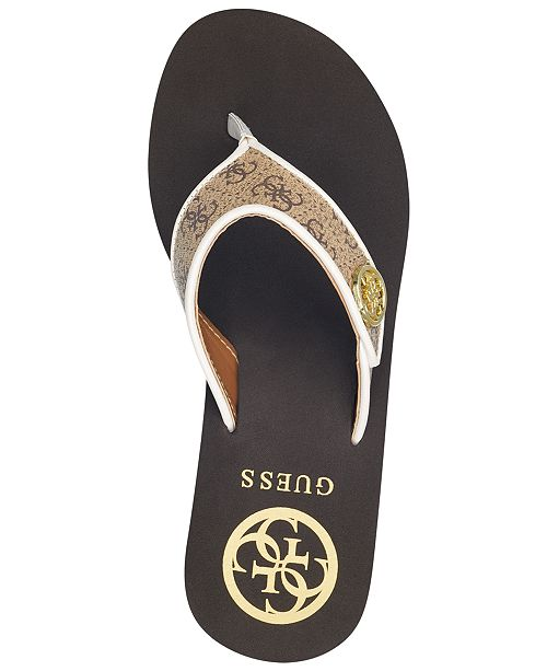 ce8b82b868 GUESS Sarraly Eva Logo Wedge Sandals & Reviews - Sandals & Flip ...