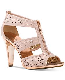 MICHAEL Michael Kors Berkley Perforated T-Strap Sandals