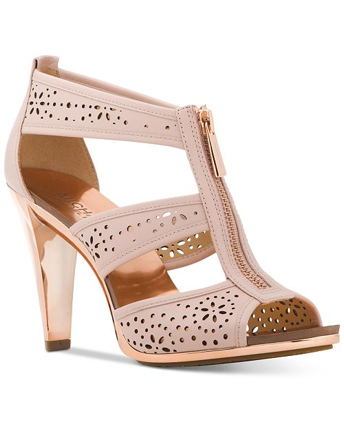 4e1635d70d6b Michael Kors Berkley Perforated T-Strap Sandals   Reviews - Sandals ...