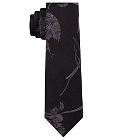 Calvin Klein Men's Water Lily Skinny Silk Tie