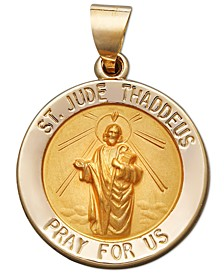 St. Jude Medal Pendant in 14k Yellow Gold