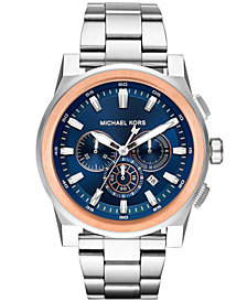 Michael Kors Men's Chronograph Grayson Stainless Steel Bracelet Watch 47mm