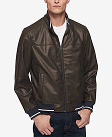 Tommy Hilfiger Men's Big & Tall Full-Zip Stand-Collar Bomber Jacket
