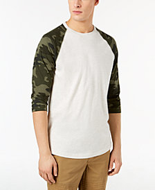 American Rag Men's Raglan Camo T-Shirt, Created for Macy's