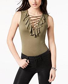GUESS Bessie Sleeveless Lattice Bodysuit