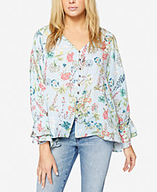 Sanctuary Popsey Floral-Print Ruffled Blouse
