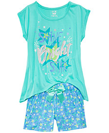 Max & Olivia 2-Pc. Bright Pajama Set, Little Girls & Big Girls