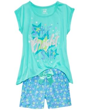 Max  Olivia 2Pc Bright Pajama Set Little Girls  Big Girls