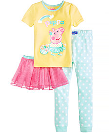 Nickelodeon's® Peppa Pig 3-Pc. Tutu Pajama Set, Toddler Girls