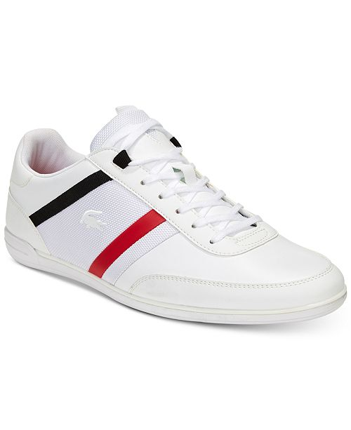 4ceafeb1b Lacoste Men s Giron Leather Low-Profile 118 1 Sneakers   Reviews ...