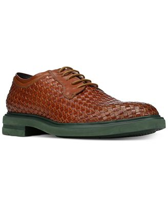Donald Pliner Men's Eloi Woven Leather Oxfords Men's Shoes