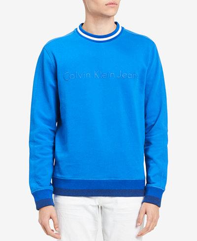 Calvin Klein Jeans Men's Striped-Trim Sweatshirt