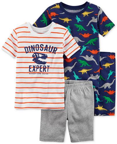Carter's 4-Pc. Dinosaur Expert Cotton Pajama Set, Little Boys & Big Boys