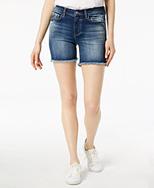 Buffalo David Bitton Faith Frayed-Hem Denim Shorts