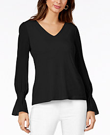 Thalia Sodi Chiffon-Sleeve Top, Created for Macy's